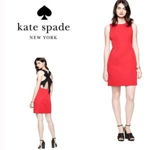 Kate Spade Red Bow Backed Dress